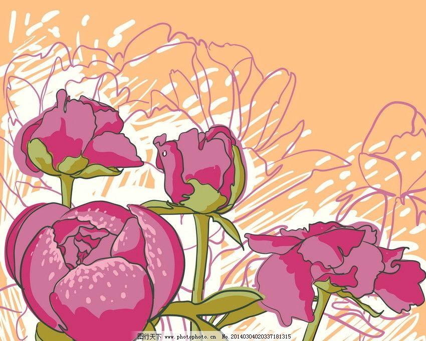 手绘鲜花 玫瑰图片