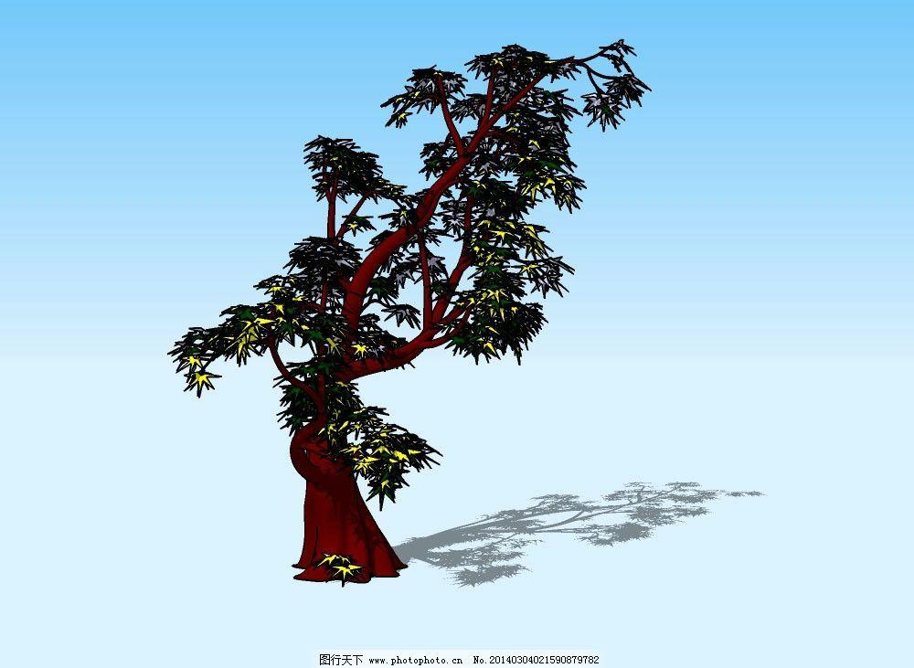 杂树3d模型 树木 树干 树枝 树叶 植物 三维 立体 skp模型 造型 经典