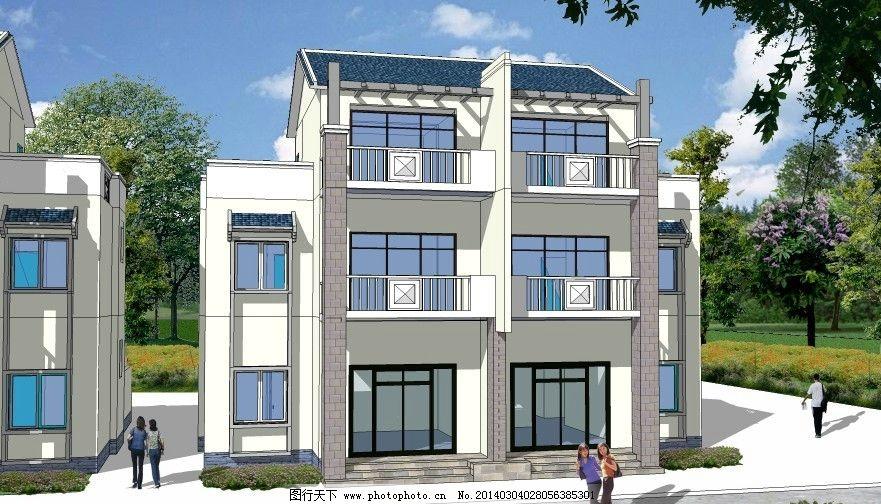新农村建筑 树 psd        鸟瞰图 路 建筑单体 分层 建筑设计 环境