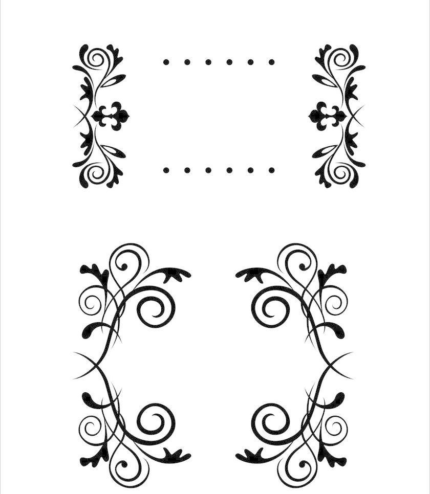 黑白花纹 背景 边框 边框相框 标签 传统花纹 底纹 底纹边框