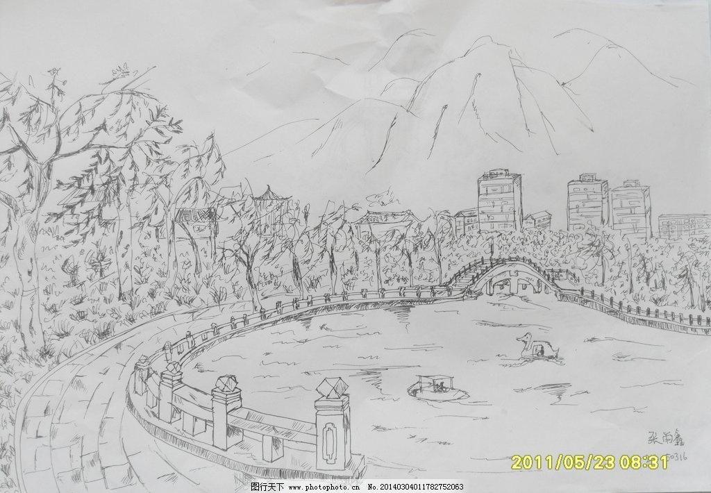 素描图片_山水风景画_装饰素材