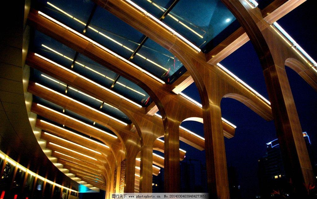 酒店 酒店雨棚 玻璃 支架 木结构 饭店 饭店雨棚 连廊 走廊 走道 中式图片