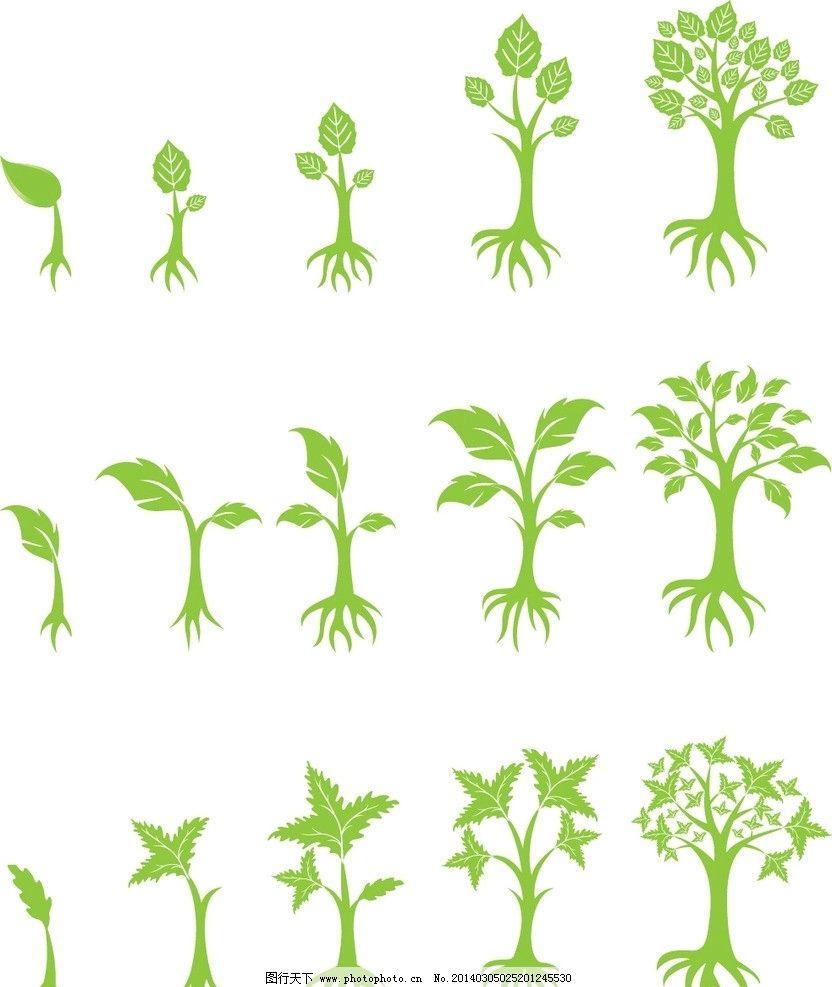大树叶 梅花叶 小叶子 花树素材ai 树木树叶 生物世界 矢量 eps 树枝