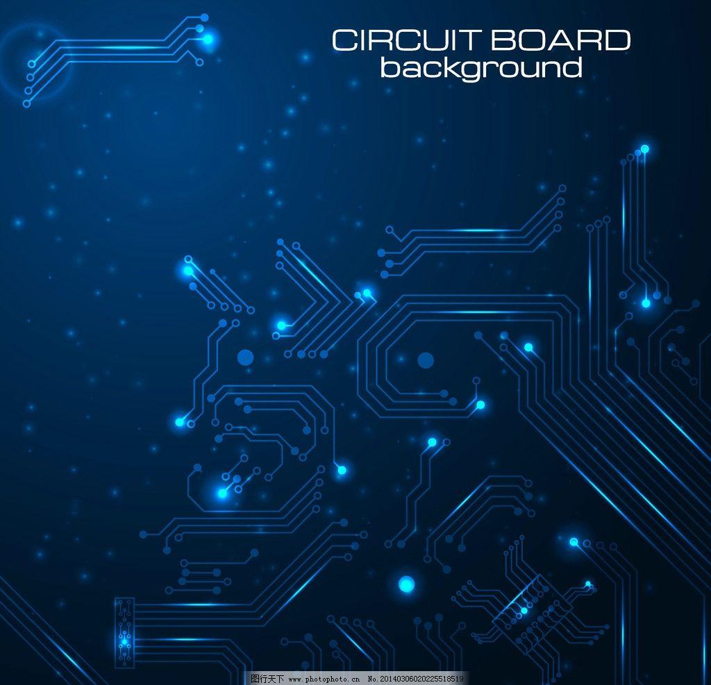 科技背景 动感 蓝色 科技 电路板 电路 线路 创新 创意 线条 创意信息