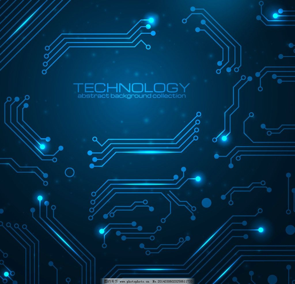 动感 蓝色 科技 电路板 电路 线路 创新 创意 线条 创意信息 商务背景图片