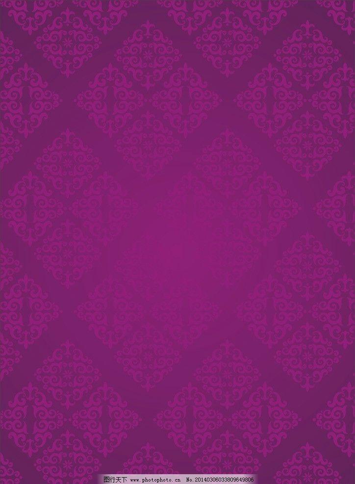 粉紫色欧式墙纸贴图