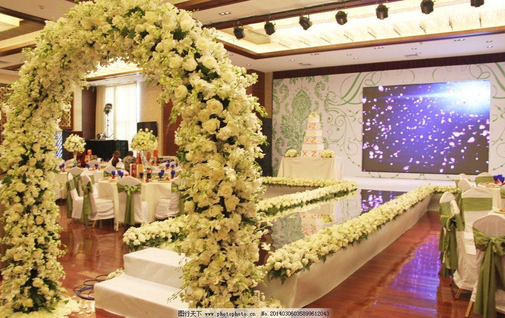 生物世界 树木树叶  婚礼 室内婚礼 绿色婚礼 白色婚礼 西式婚礼 婚礼