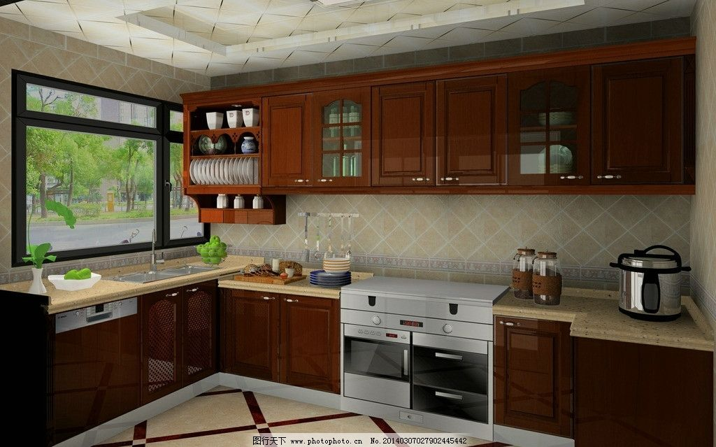 橱柜 集成灶 实木 圆方 室内 室内设计 环境设计 设计 72dpi jpg