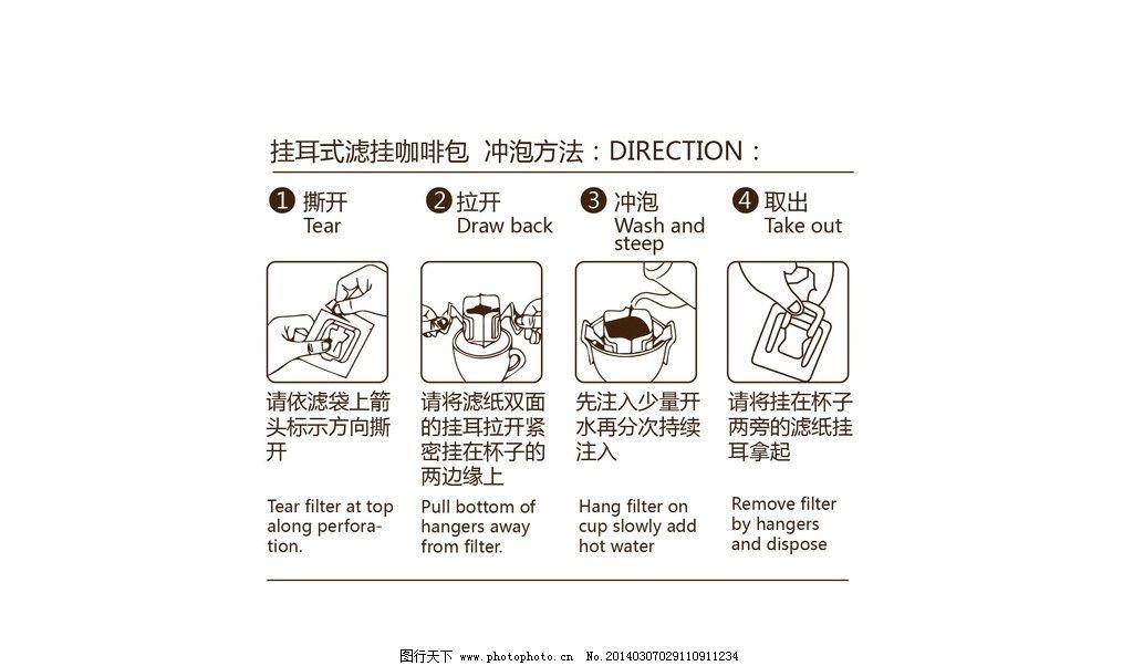 滤挂咖啡冲泡步骤图片