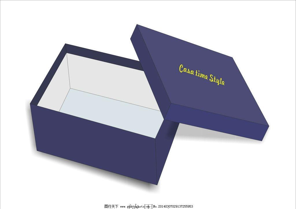 鞋盒(展开图) 鞋盒展开图 盒子 紫色 效果图 天地盖 矢量图片