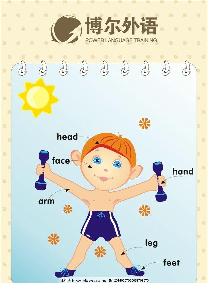 英语培训身体部位单词图片