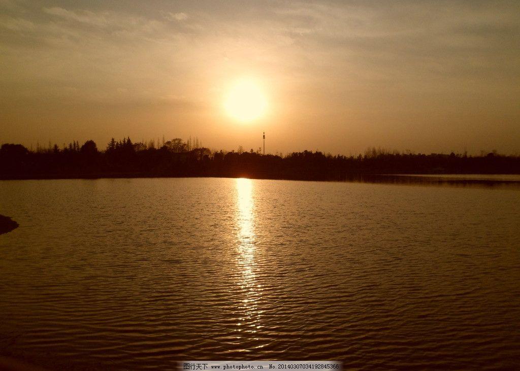 黄昏图片,暖色调 水面 江景 夕阳 自然风景 旅游摄影
