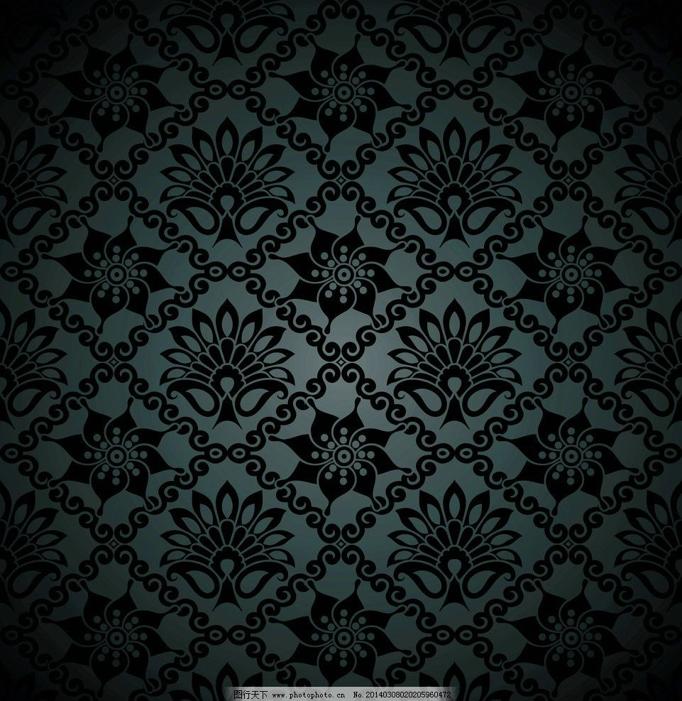 手绘花纹 精美花纹 植物花纹 抽象花卉 豪华背景 欧式花纹 复古