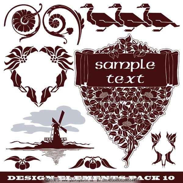 欧式古典素材 欧式古典素材免费下载 底纹 古典花纹 花边 心形花纹