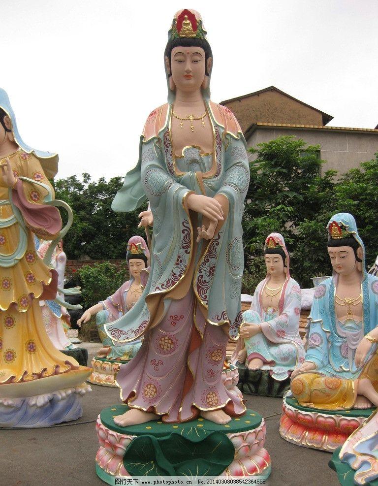 雕像 宗教人物 传统工艺 彩绘 淡彩工艺 木雕 三十三观音 佛像贴金