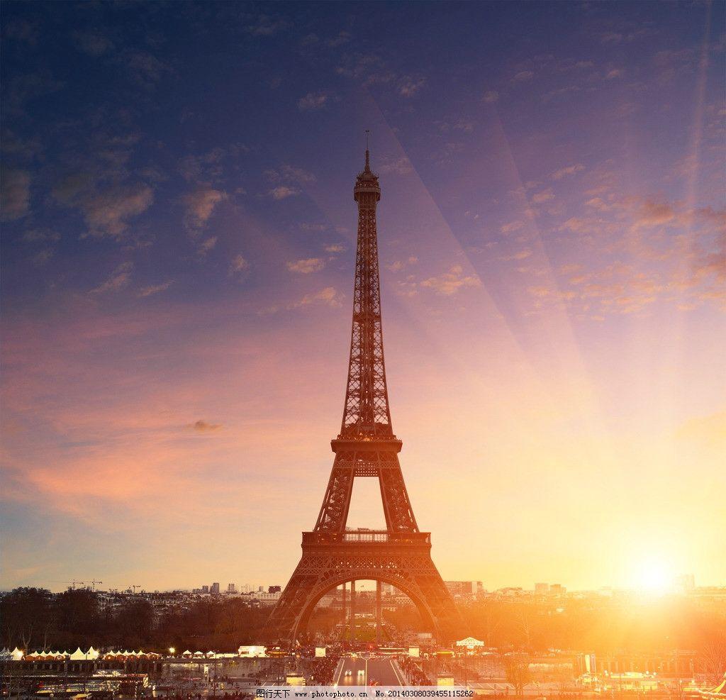 巴黎铁塔 巴黎铁塔图片素材下载 艾菲尔巴黎铁塔 埃菲尔铁塔 法国 巴黎 城市夜景 著名景点 塞纳河畔 蓝天白云 建筑摄影 自然景观 城市高清图片 建筑园林 摄影 巴黎风景 风景名胜 300DPI JPG