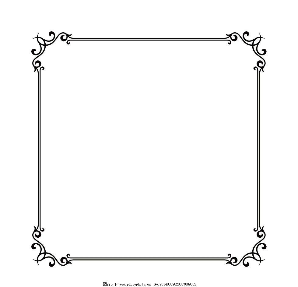 边框 花纹 黑色 线条 方框 圆形边框 方形边框 花边 边纹 纹理 红色图片