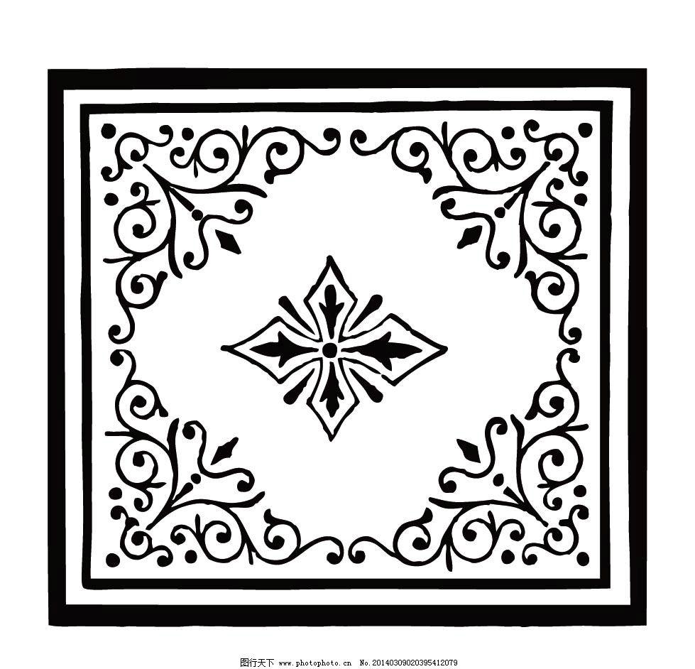 方形边框 花边 边纹 纹理 红色 边框相框 底纹边框 矢量 ai 欧式花纹