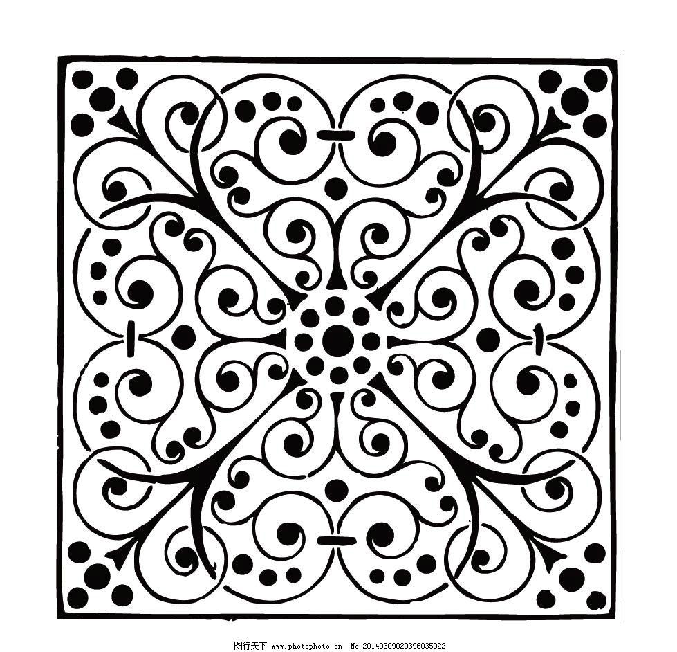 边框 花纹 黑色 线条 方框 圆形边框 方形边框 花边 边纹 纹理