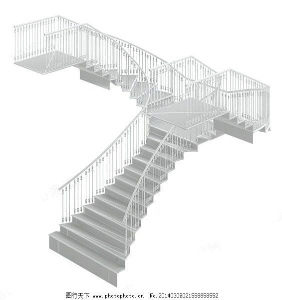 旋转楼梯模型素材免费下载