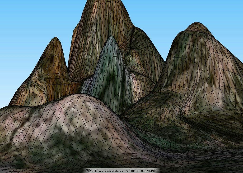 山峰3d模型图片