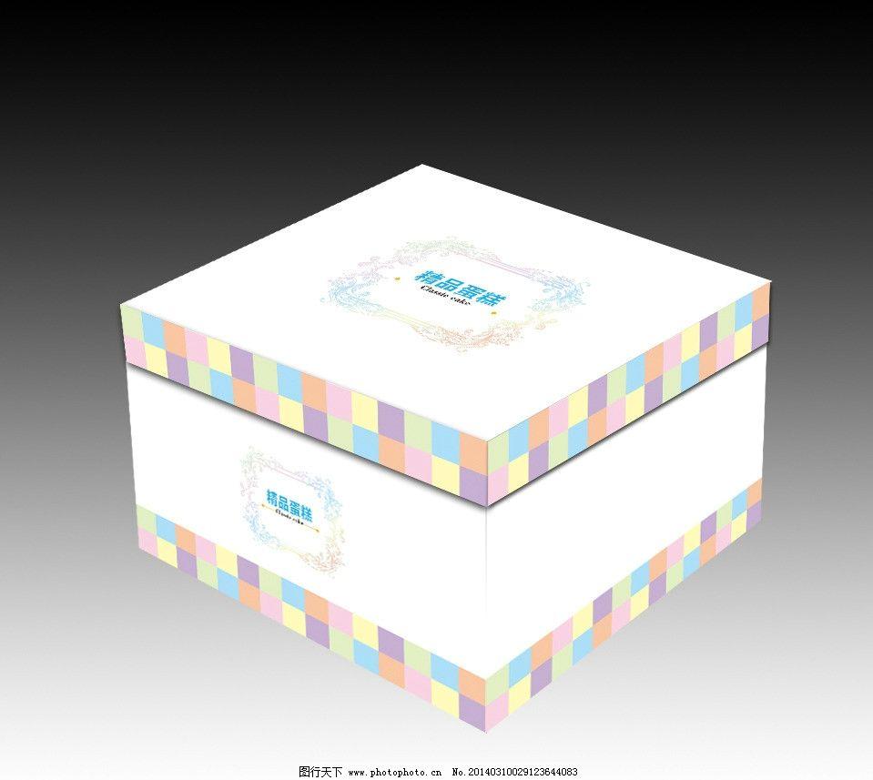 方形蛋糕盒(平面图)图片_包装设计_广告设计_图行天下