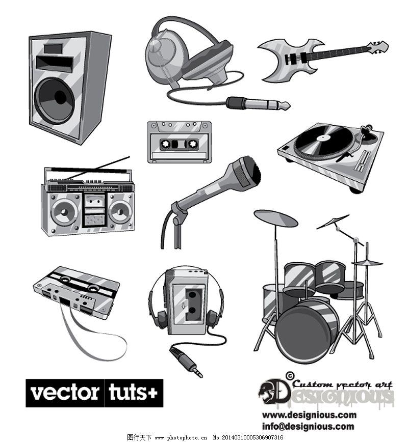 乐器矢量图_广告设计_矢量图