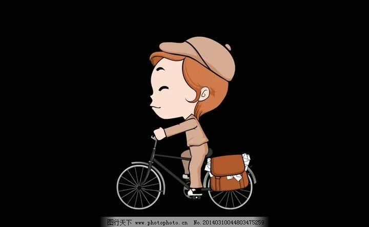 卡通小人骑车视频