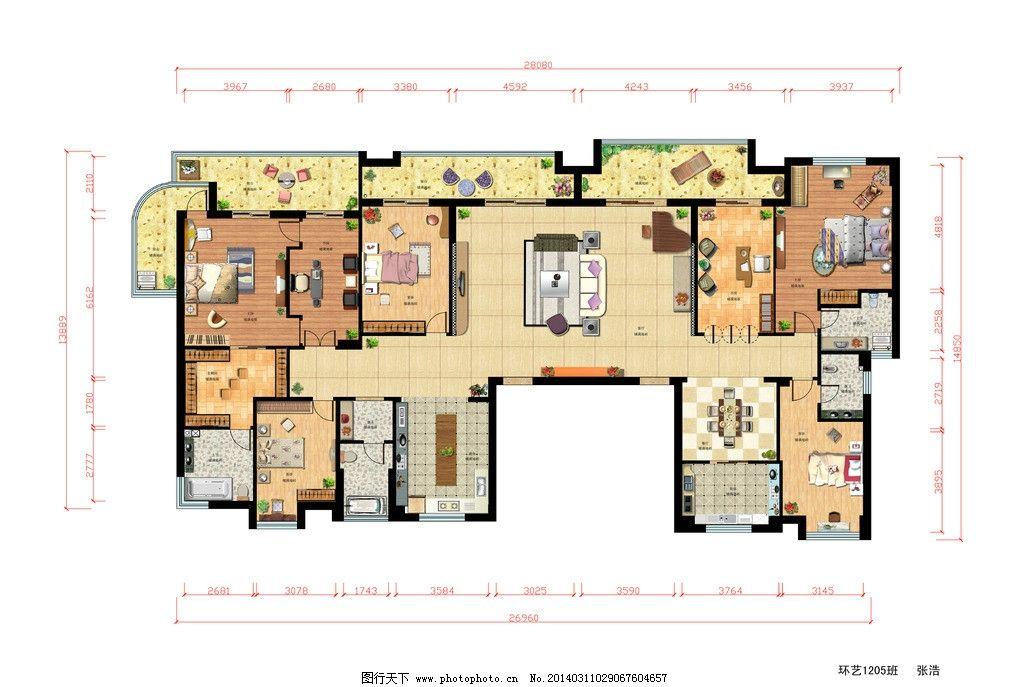 室内家居平面图设计图片