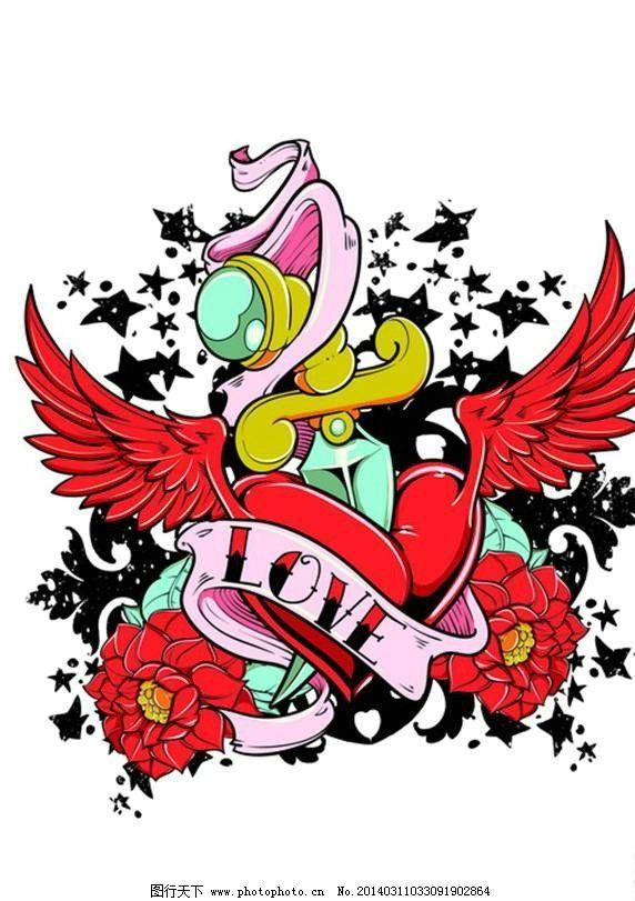 摇滚花纹 欧美花纹 欧式花纹 服装图案 t恤图案 花纹图标 花纹设计
