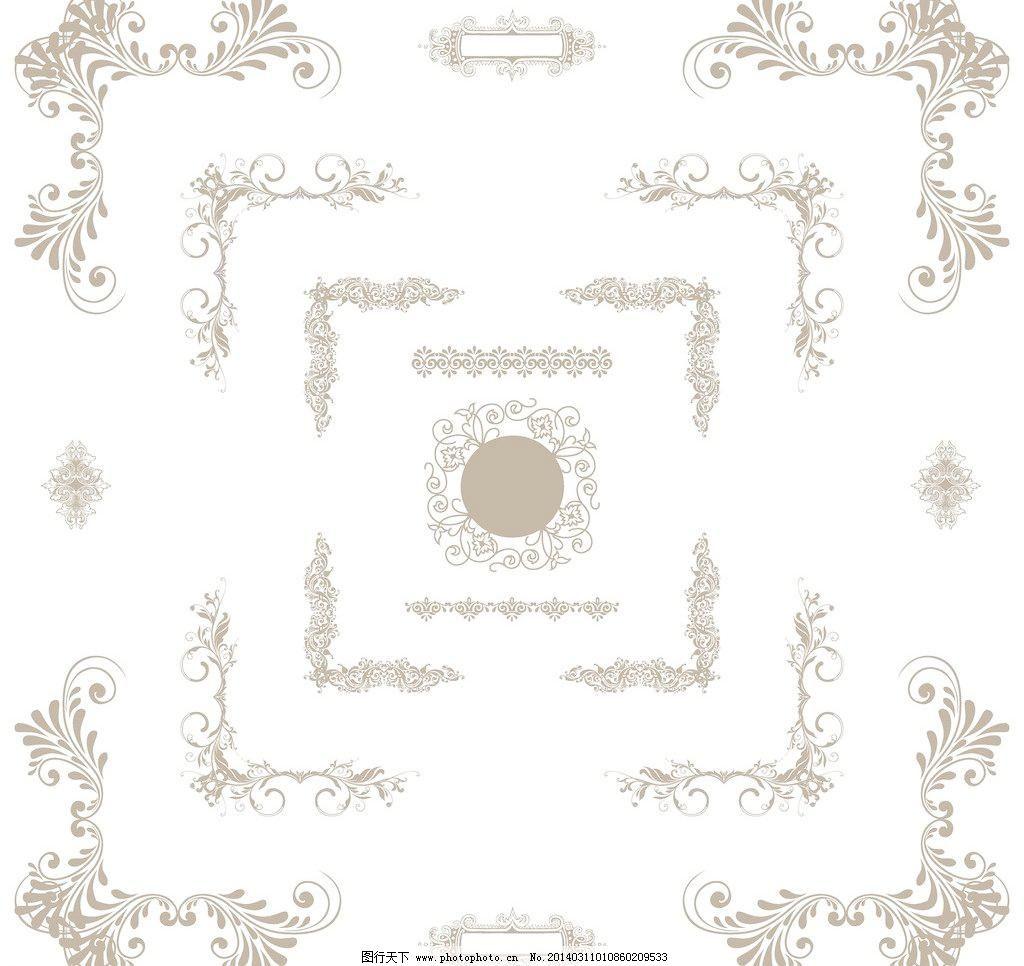 菜单 传统花纹 底纹边框 古典 古典底纹 古典花边 欧式花纹矢量素材