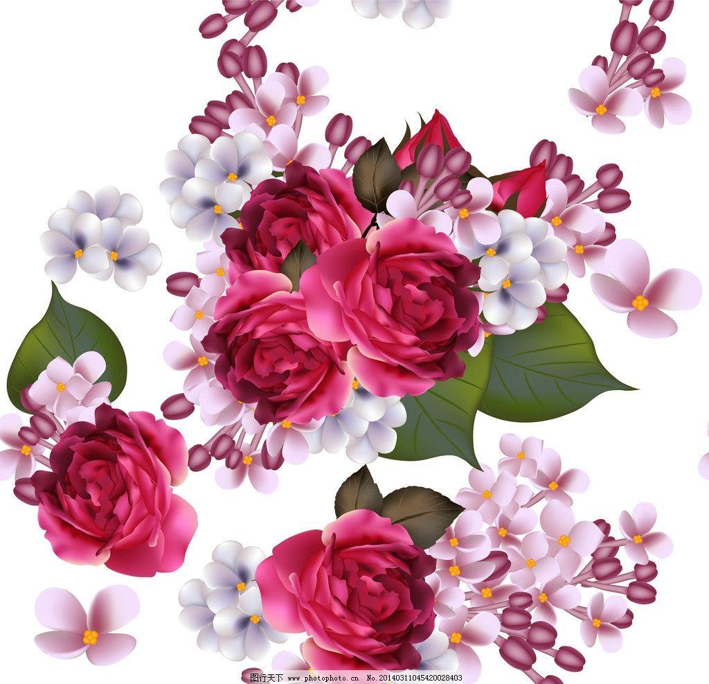 艺术字体  手绘花卉 花卉 春天 梦幻花卉 月季花 玫瑰花 蝴蝶 植物