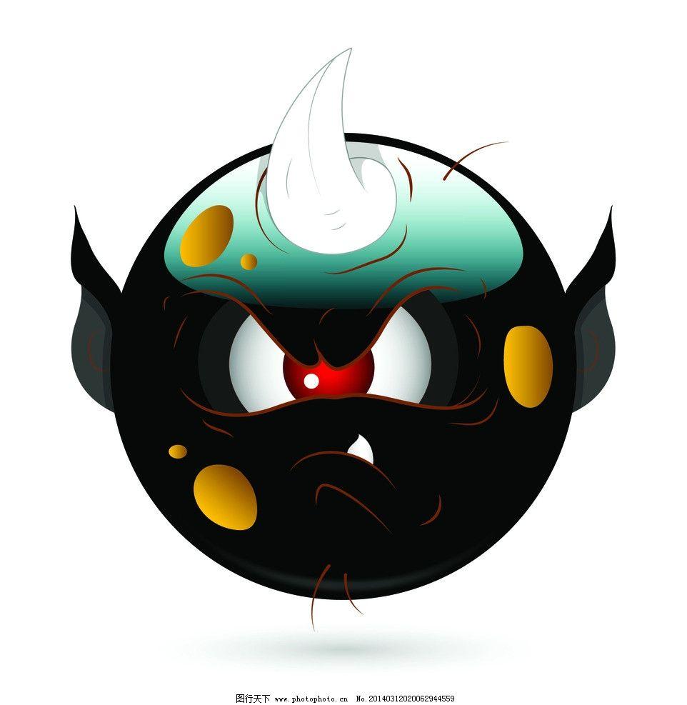 网页小图标  卡通表情 qq表情 怪物脸 失量表情 卡通 卡通头像 qq头像图片