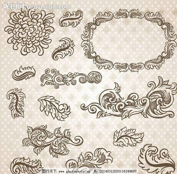 花纹图标欧式图标 复古图标