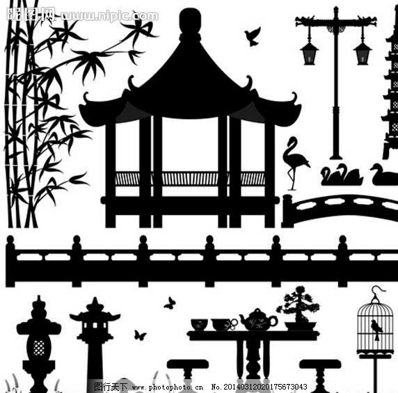 中式古典公园图片_其他_标志图标_图行天下图库图片