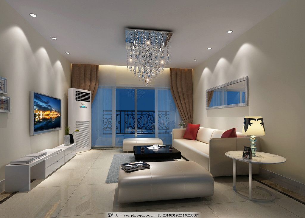 简单客厅设计 家具 沙发 设计素材 模板下载 灯光 室内 玻璃门图片