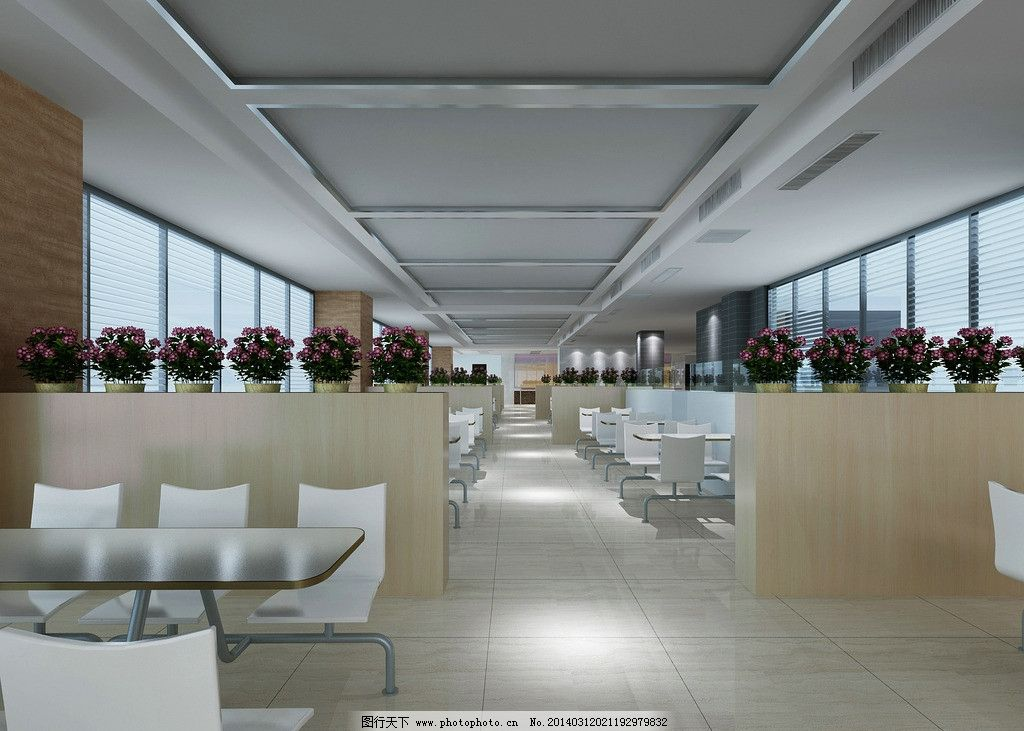 食堂餐厅 现代餐厅 设计素材 模板下载 灯光 室内 玻璃门 300dpi jpg