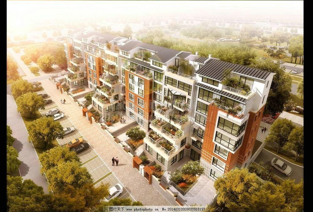 别墅鸟瞰图 鸟瞰图 环境设计 园林设计 园林景观 景观设计 环艺设计