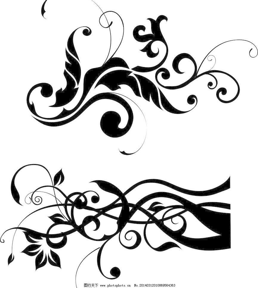 边框相框 潮流 抽象花纹 底纹边框 底纹图案 古典花边 古典花纹 黑白