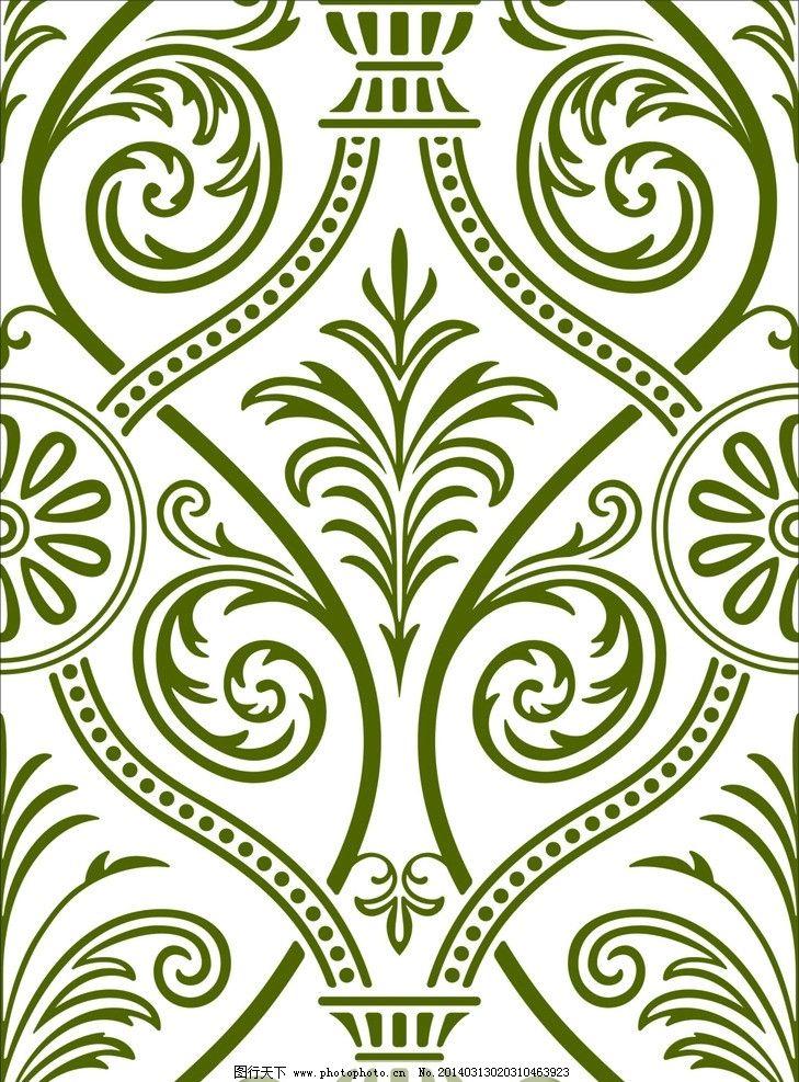 欧式花 壁纸花 硅藻泥 雕刻素材 矢量图 花式 花纹花边 底纹边框
