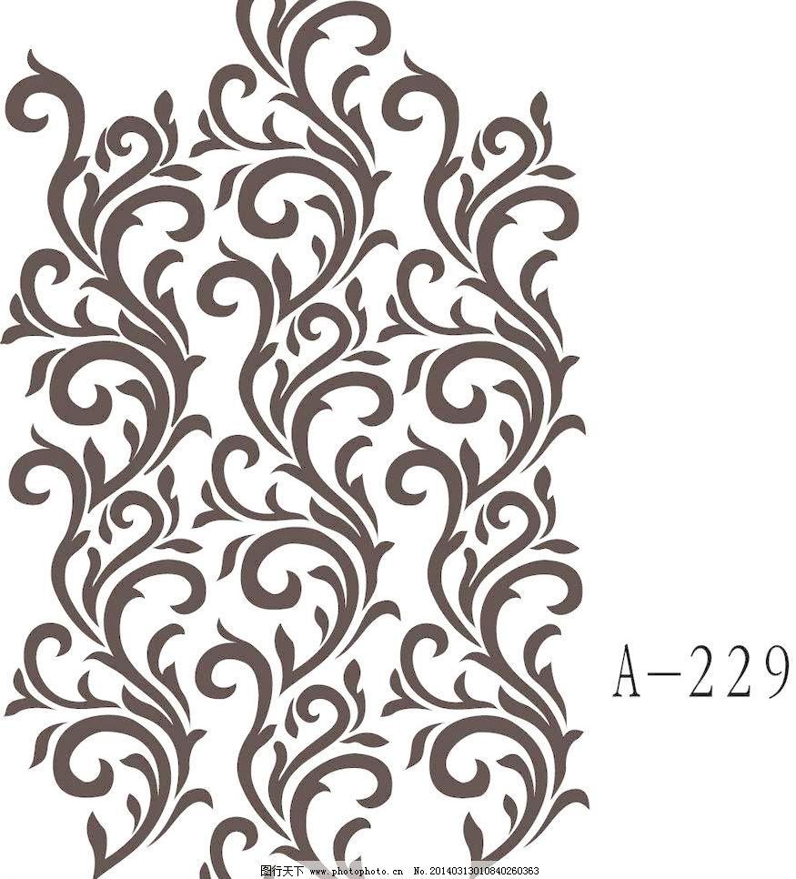 欧式花 壁纸花 底纹边框 雕刻素材 硅藻泥 花纹花边 矢量图 壁纸花图片