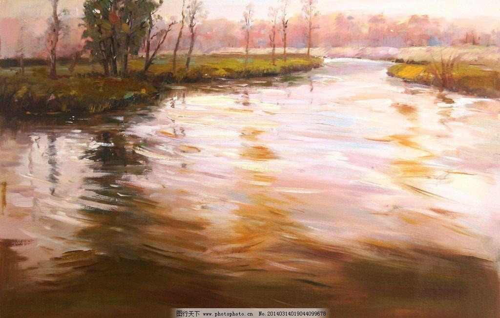 自然风景油画 风景油画 自然风景 纯手绘油画 家居装饰 时尚装饰画