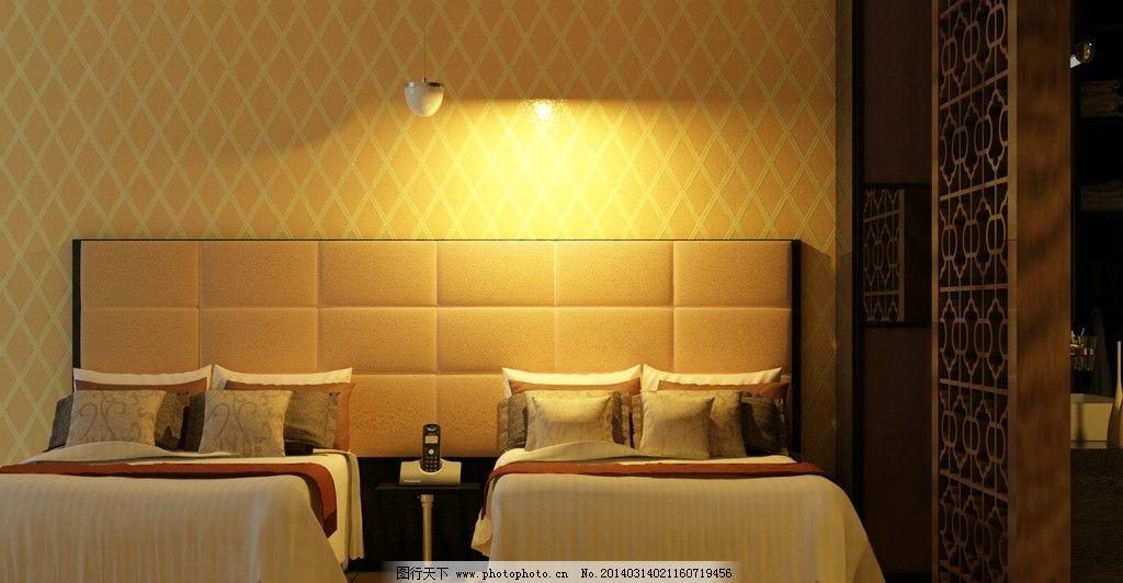 宾馆标间        逼真 真实 卧房 灯光 3d设计 设计 72dpi jpg