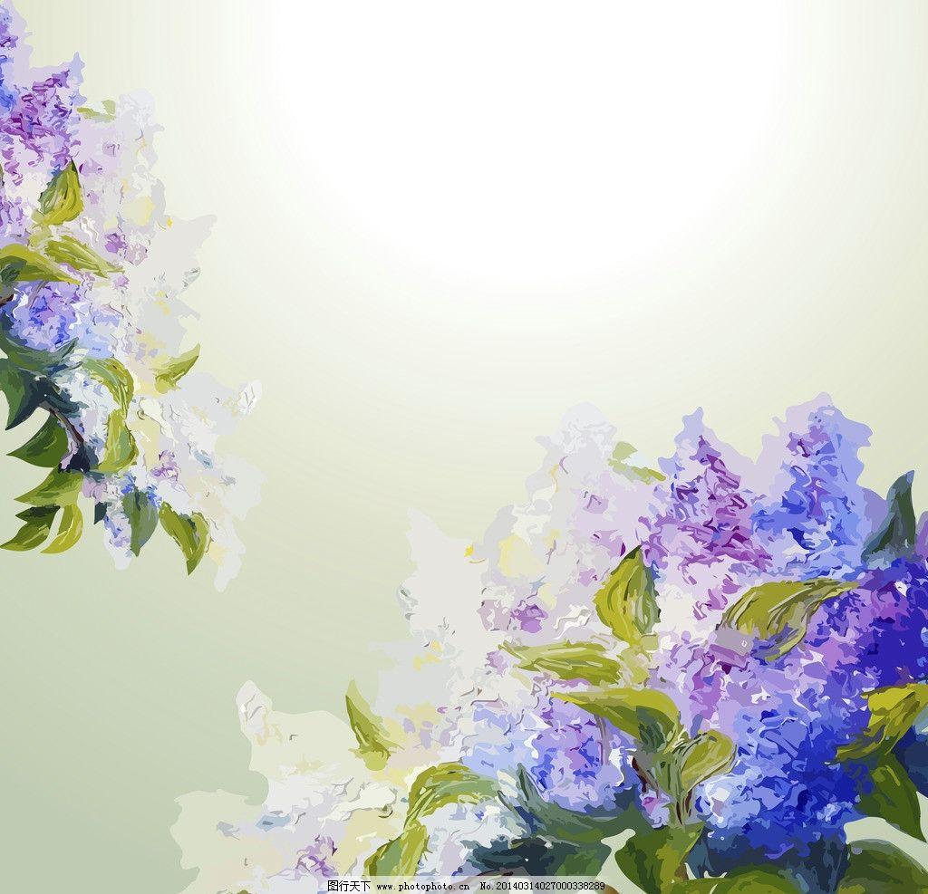 水墨花卉 手绘花卉 花卉 绿叶 鲜花 油画 花瓣 花草背景 花草 生物