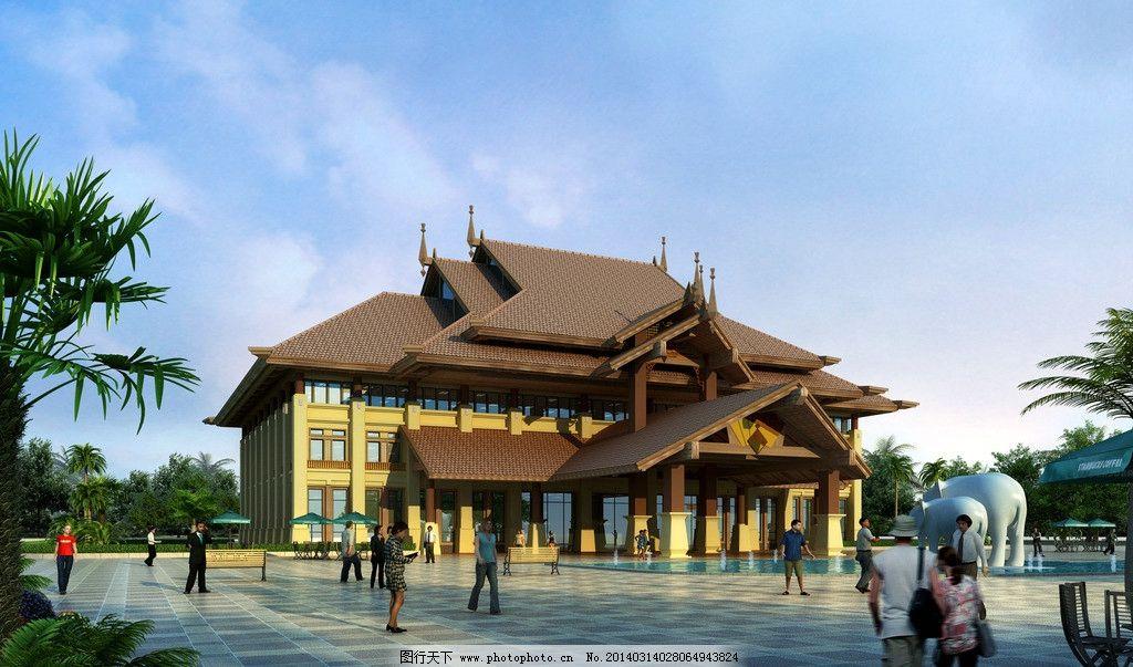 东南亚风格建筑图片