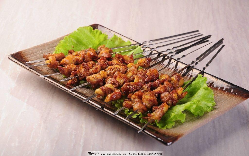 鸡脆骨串 烤串 烧烤 美食 美味 摄影