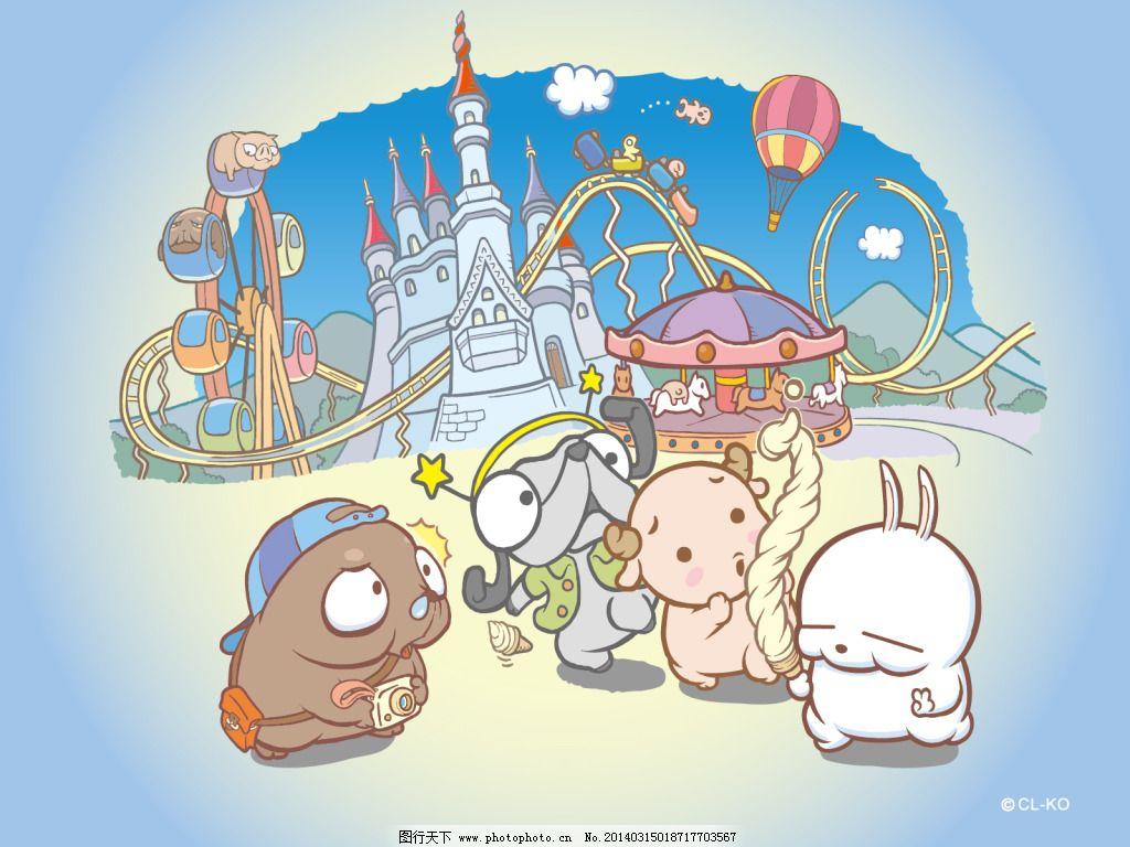 流氓兔1600*1200高清壁纸1 动漫 游乐场 图片素材 卡通动漫可爱图片