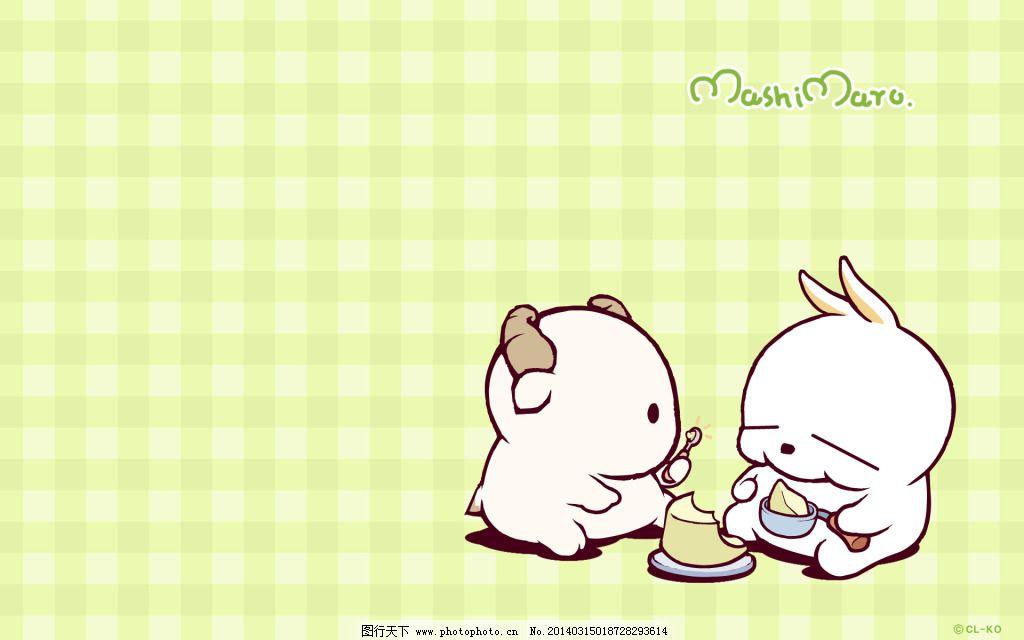 流氓兔动漫形象 卡通桌面壁纸 喂食_可爱卡通_动漫_图