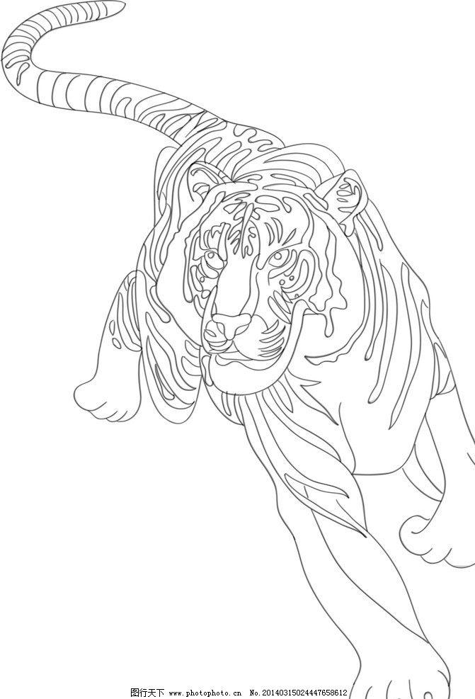 白描 线条 工笔 dw 大虫动物