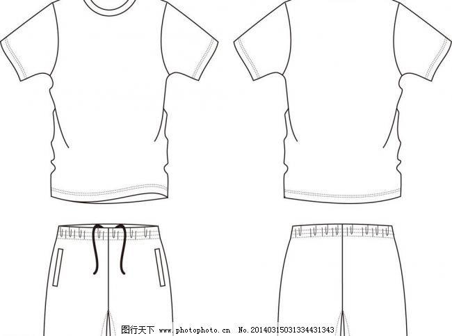 t恤套装 短裤 服装设计 广告设计 矢量图 版型 淘宝素材 其他淘宝素材